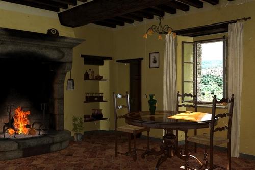Soggiorno rustico w i p work in progress for Soggiorni rustici immagini