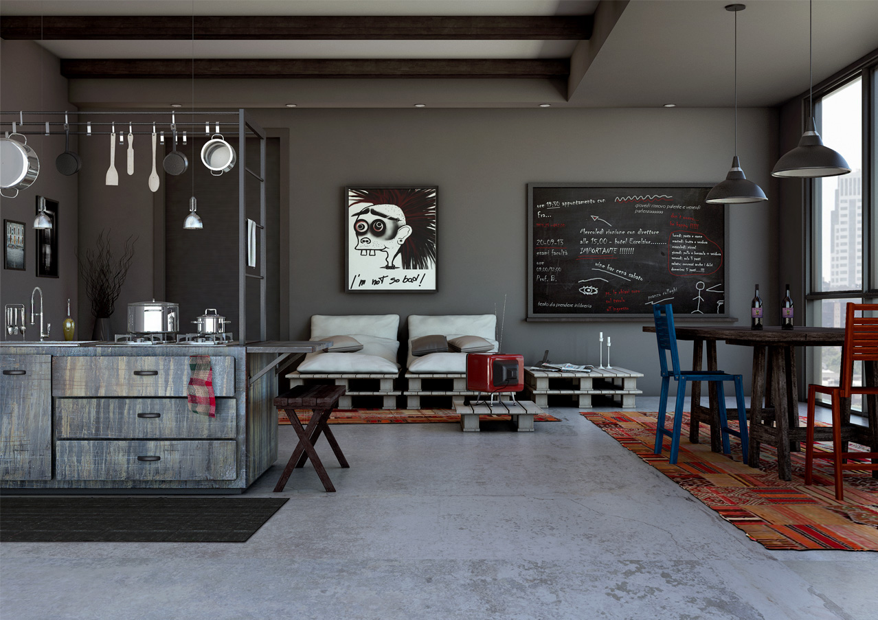 Sala Da Pranzo Con Angolo Cottura Final Architettura E