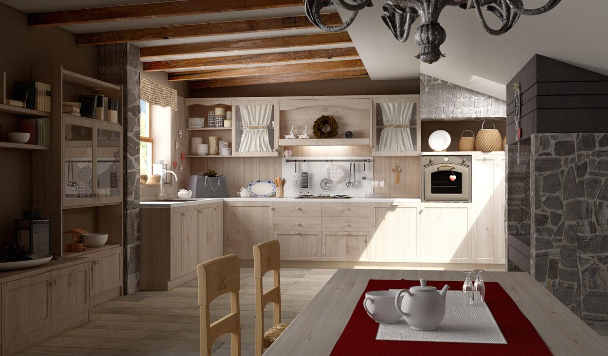 Pitture per cucine rustiche progetto cucina in muratura d for Pittura per cucina classica