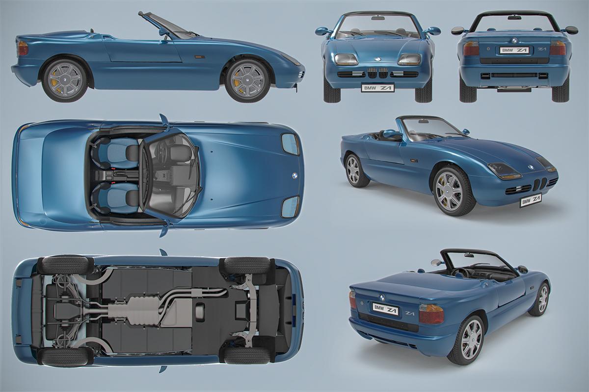bmw roadster z1 final immagini cg vfx il portale italiano sulla grafica 3d. Black Bedroom Furniture Sets. Home Design Ideas