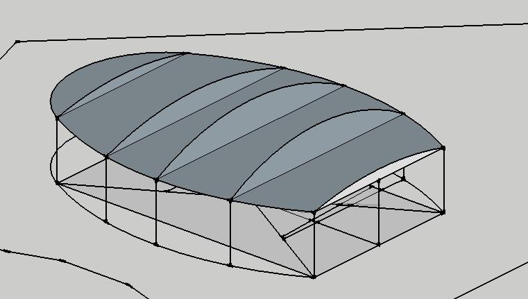 Disegnare una copertura sketchup il for Disegnare una stanza in 3d