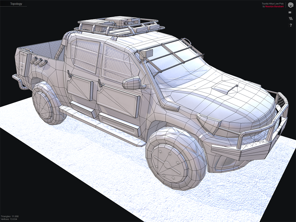 Toyota Hilux low poly 04.png