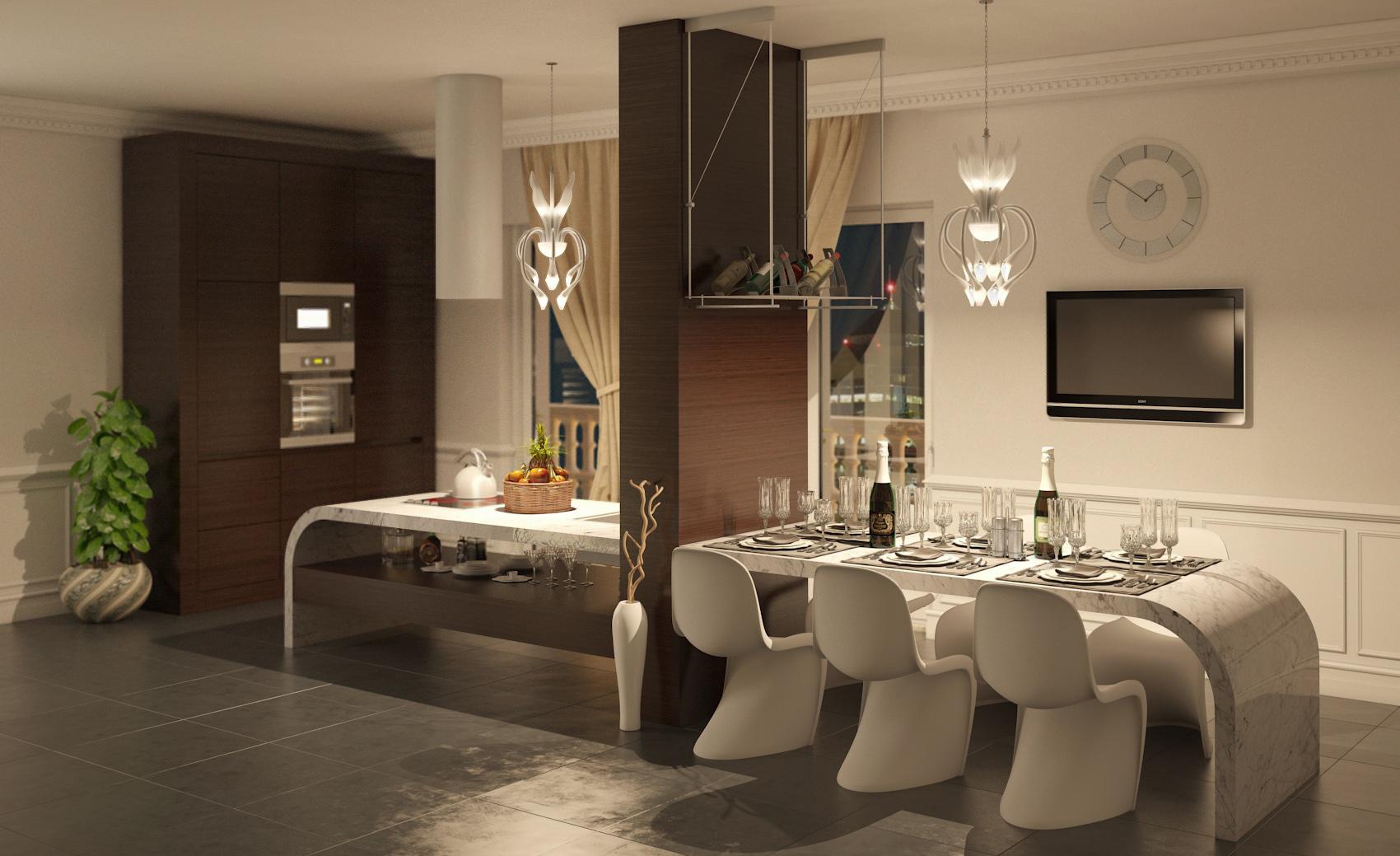 Cucine Di Lusso Design : Cucina di lusso [final] architettura e interior design treddi
