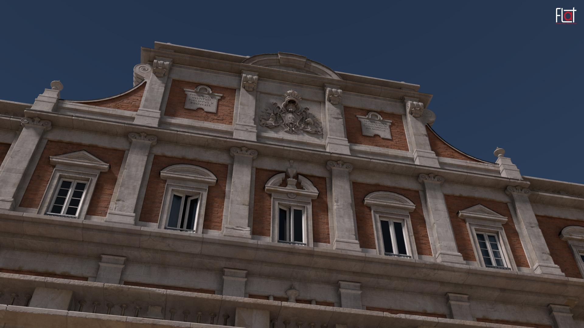 Architettura A Madrid palacio real de aranjuez - 3d model - [final] architettura e