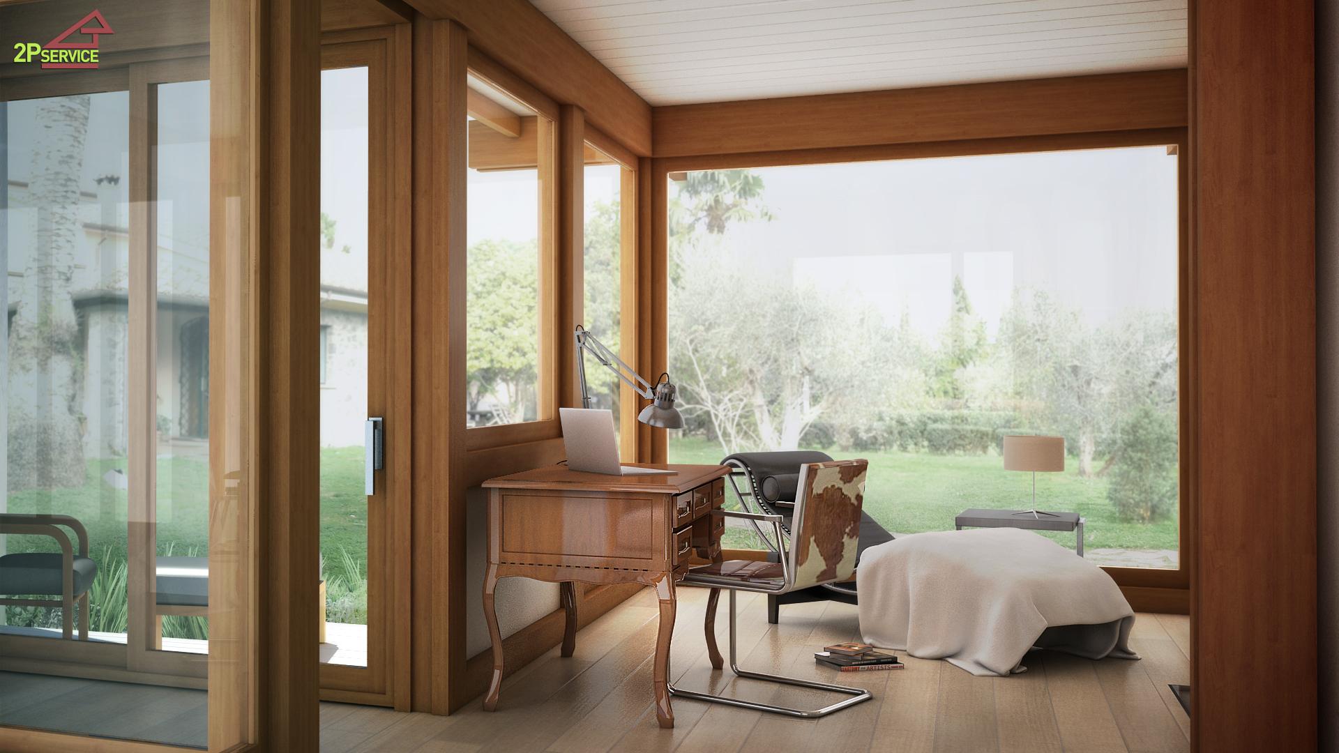 Ampliamento casa con struttura in legno manzin - Ampliamento casa con veranda ...