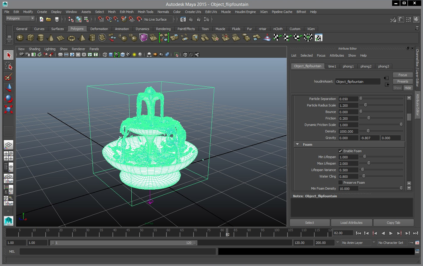 hengine maya fountain lg