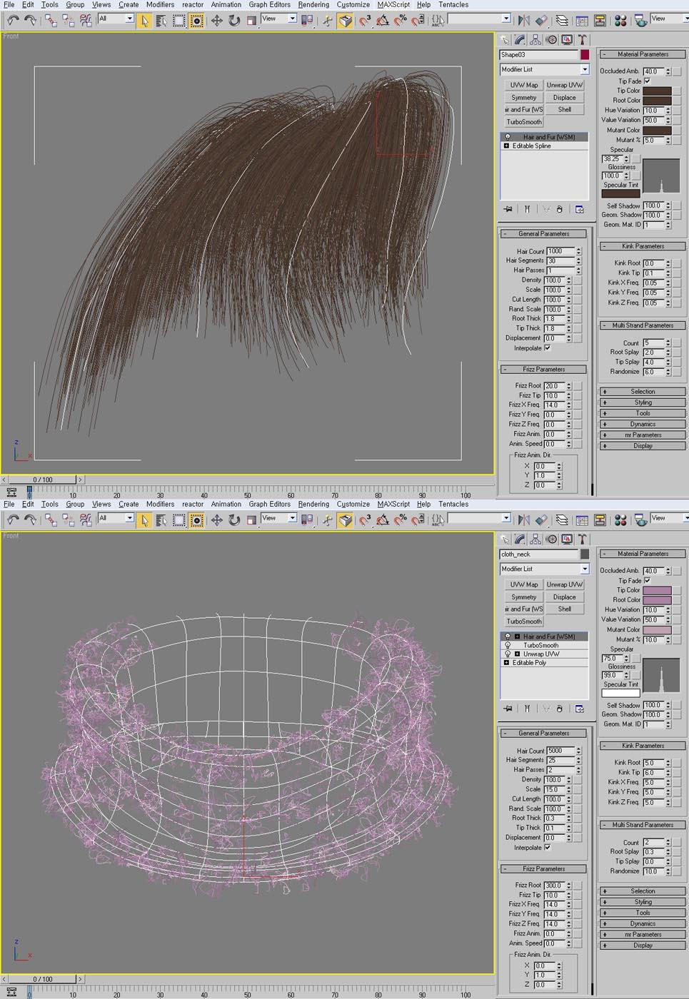 Быстрое создание ковра с помощью hair and fur