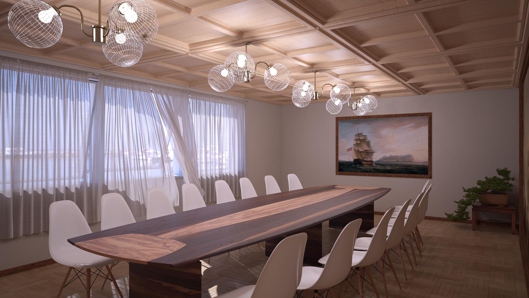 Sala riunioni marina final architettura e interior for Sala riunioni