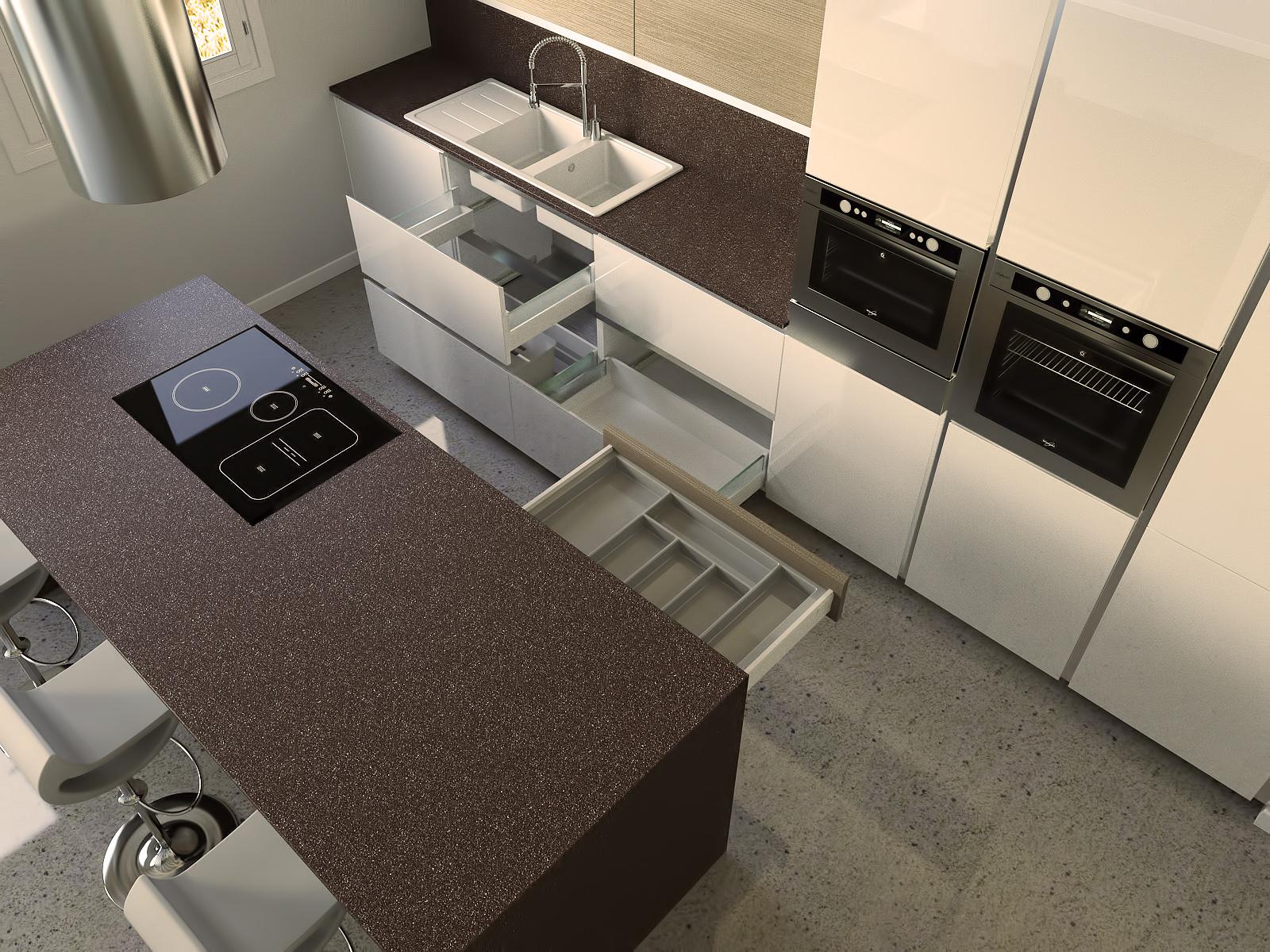 Cucina moderna final architettura e interior design - Top cucina porfido ...
