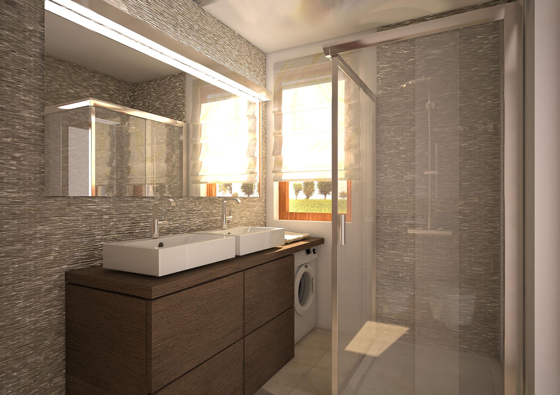 Rendering d 39 interni bagno final architettura e for Siti design interni