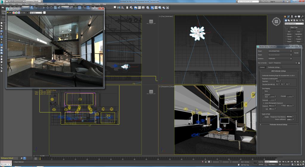 Amd firerender motore di rendering free per 3ds max for Software per rendering