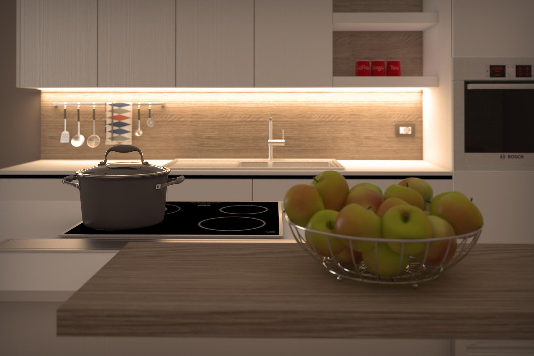 Progetto cucina final architettura e interior design for Progetto 3d cucina