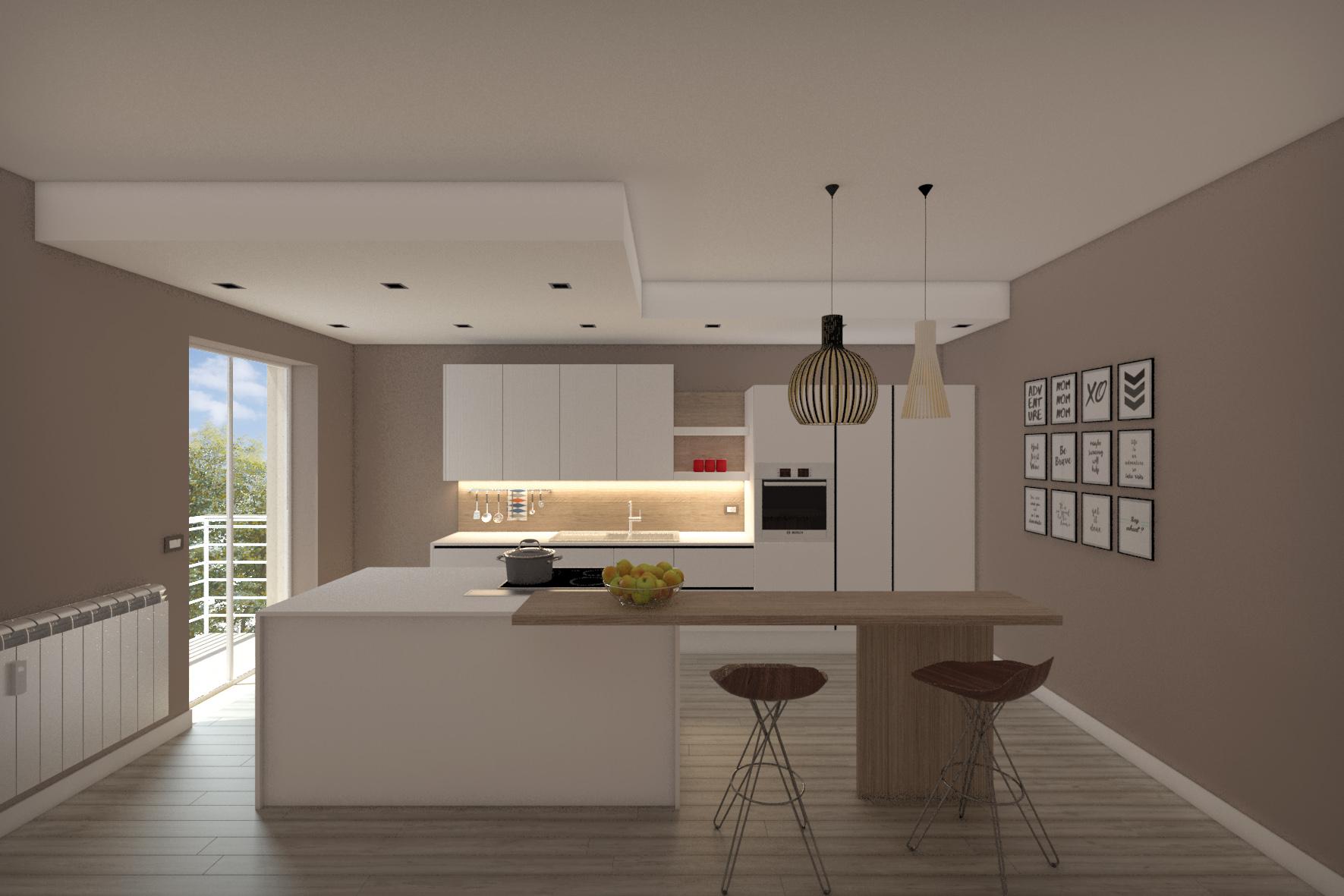 Progetto cucina - [FINAL] Architettura e Interior Design - Treddi.com - Il portale italiano ...