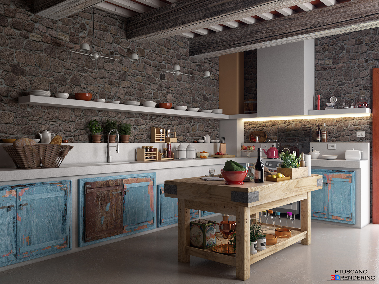 Cucina rustica final architettura e interior design for Cucina rustica