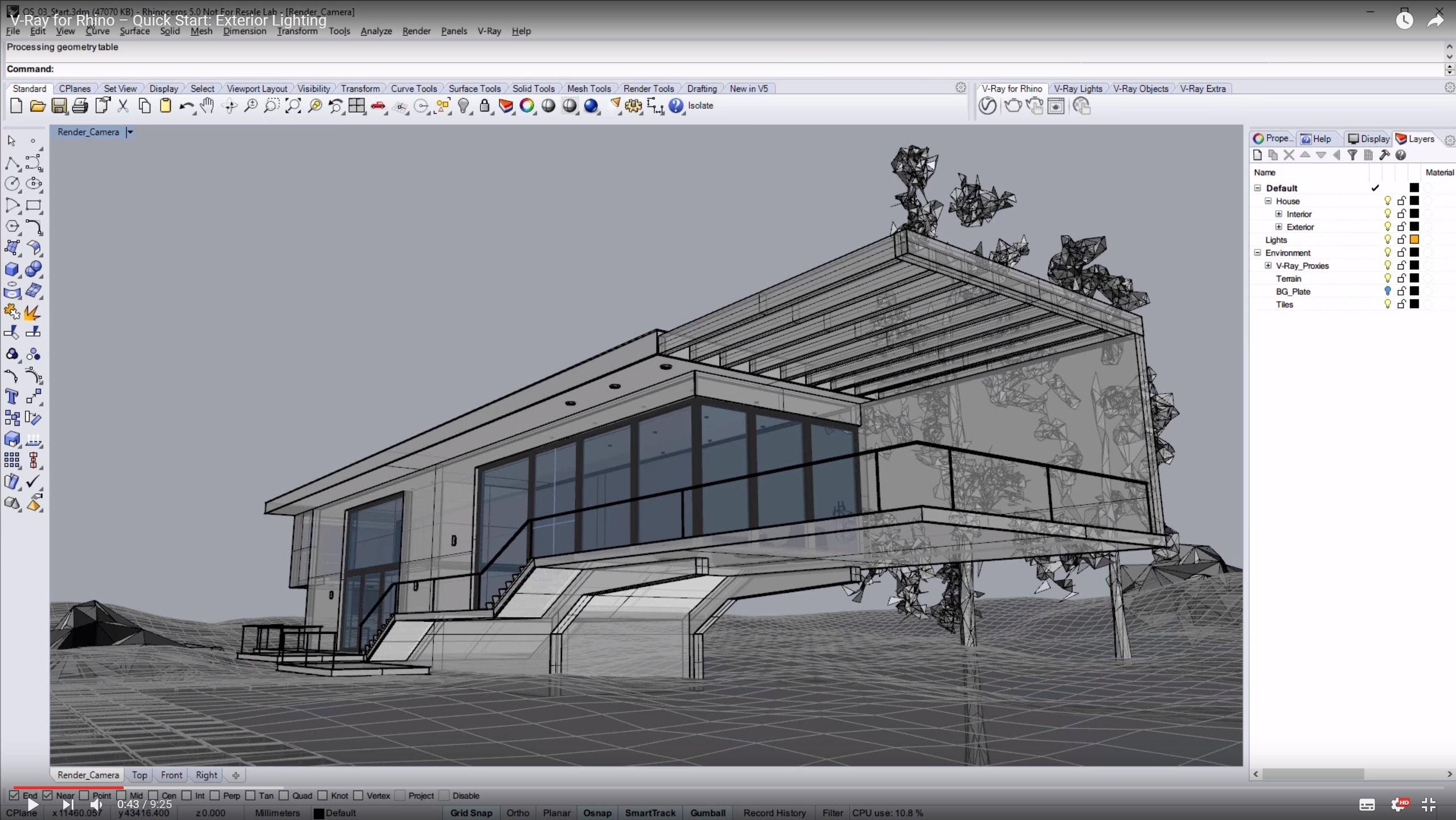 V ray per rhino exterior lighting tutorial for Software per rendering
