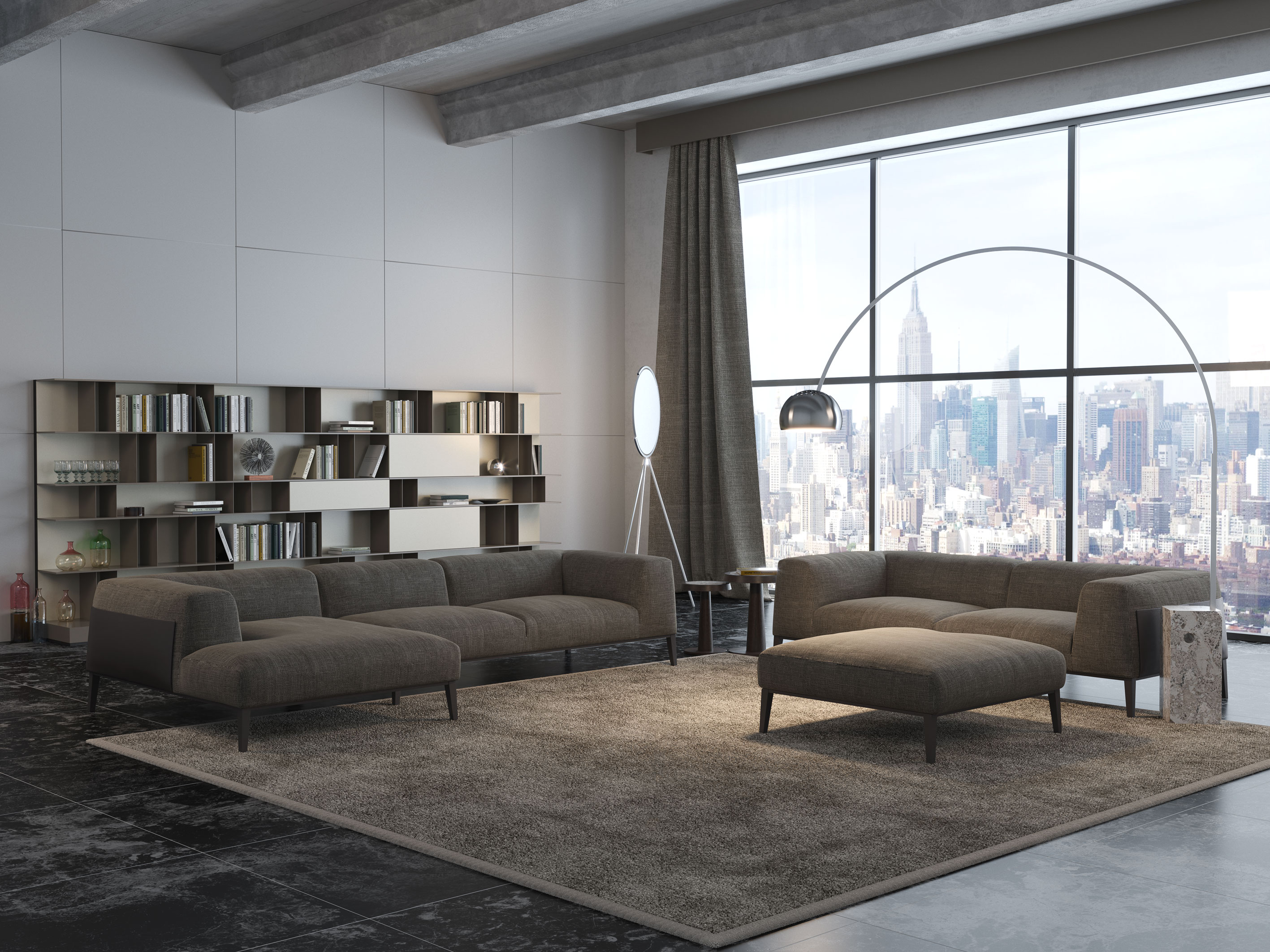 Poliform interior final architettura e interior design for Living room cinema 4d