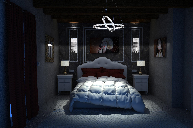Studio camera da letto in toscana luci final architettura e interior design - Studio in camera da letto ...