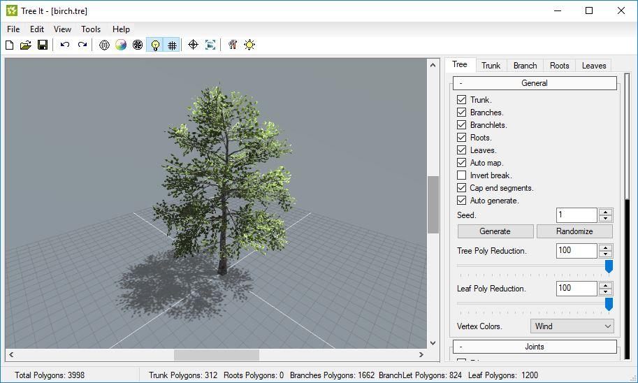 Tree it generatore gratuito di alberi 3d for Software di progettazione di mobili download gratuito 3d