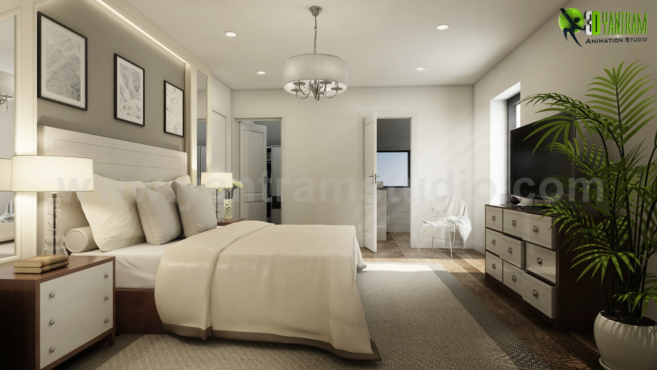 Modern Master Bedroom Ideas Developed By Yantram 3d Interior Rendering Services Brussels Belgium Yantram3dstudio