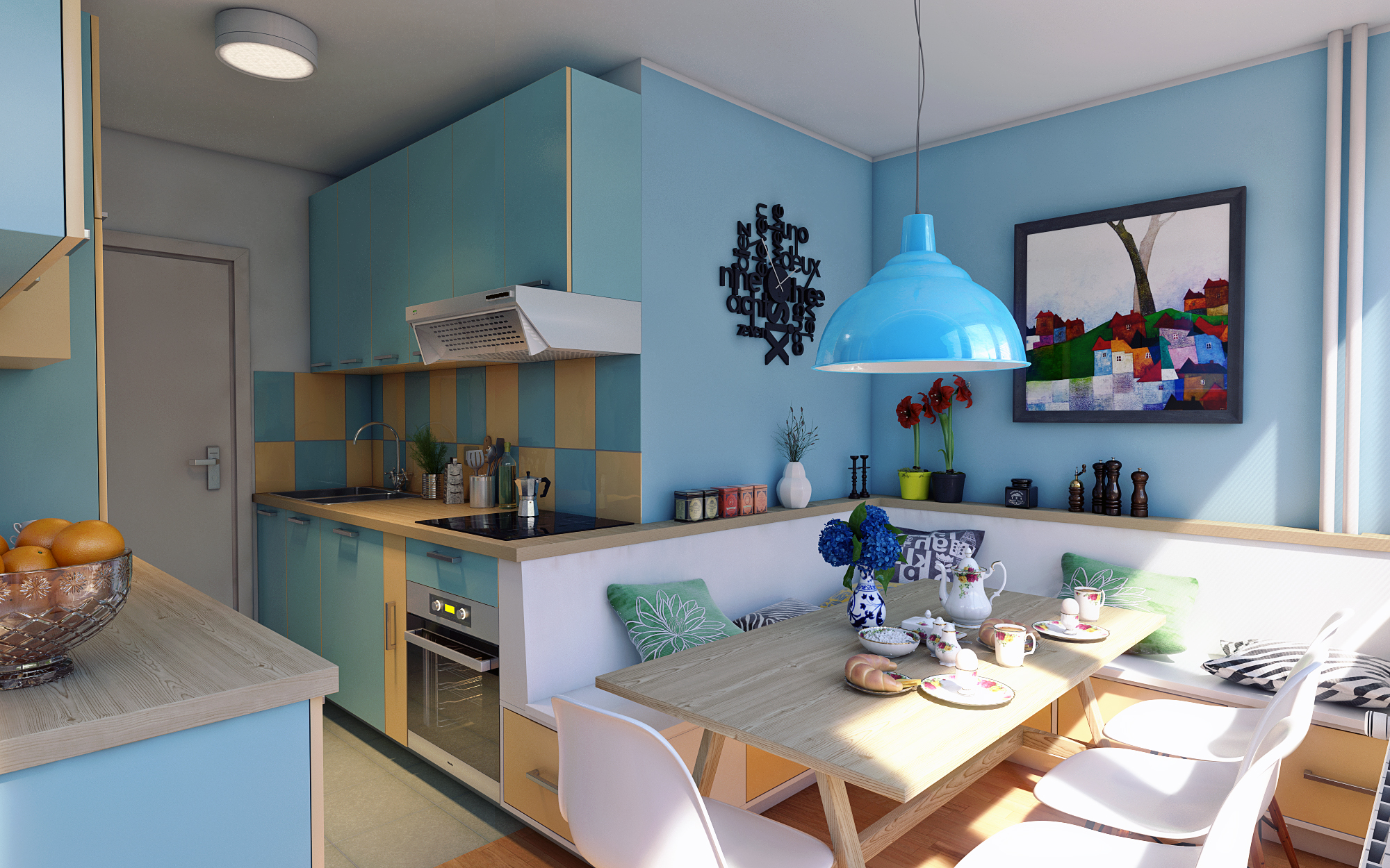 Cucina con tinello - [FINAL] Architettura e Interior Design - Treddi ...